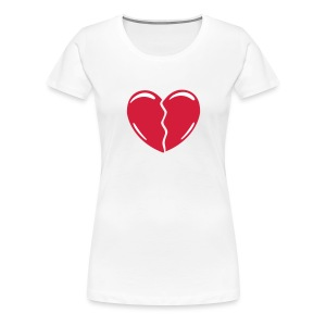 Shirt Broken Heart - Frauen Premium T-Shirt