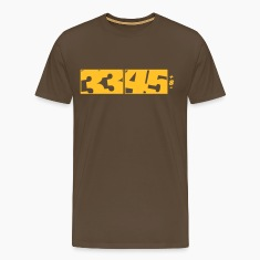 Brown 33 / 45 DJ Logo Men's Tees (short-sleeved)