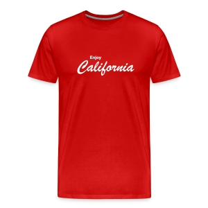 3XL-Shirt ENJOY CALIFORNIA rot - Männer Premium T-Shirt