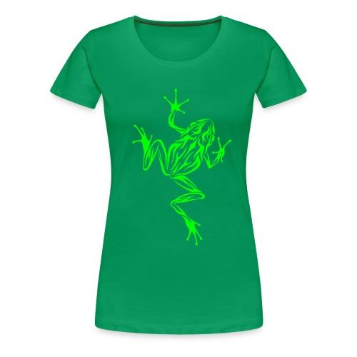 Jungle-Shirt mit Frosch - Frauen Premium T-Shirt