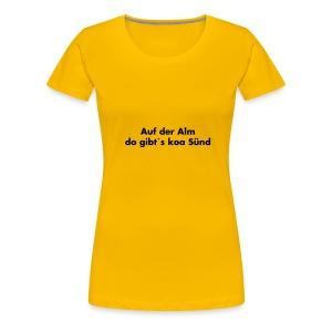 Auf der Alm.. Schwarz - versch. Farben - Frauen Premium T-Shirt