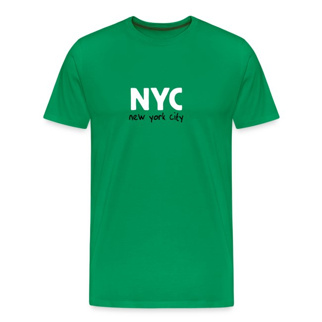 """T-Shirt """"NYC"""" grasgrün"""