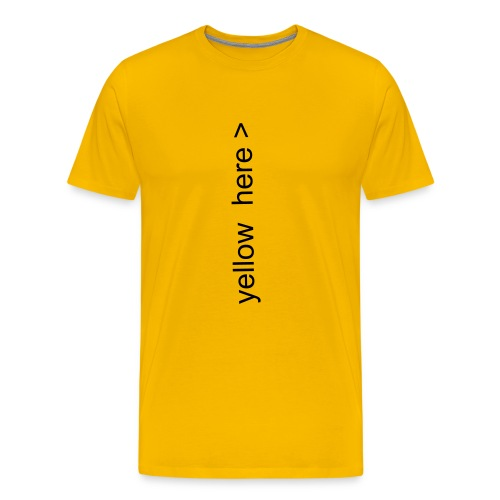 yellow here - Männer Premium T-Shirt
