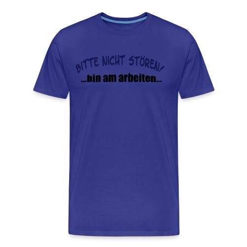 Nicht Stören - Aufdruck vorne - Männer Premium T-Shirt