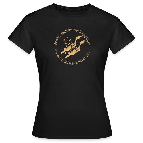 Frauen T-Shirt - Farbe Oliv, Flockdruck Sand
