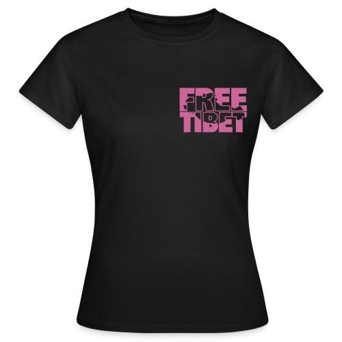 Free Tibet Spenden-T-Shirt Vorder und Rückseite bedruckt - Frauen T-Shirt