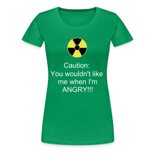 Ladies Angry T-Shirt - Women's Premium T-Shirt