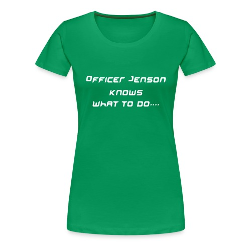 Officer Jenson Shirt - Green - Women's Premium T-Shirt