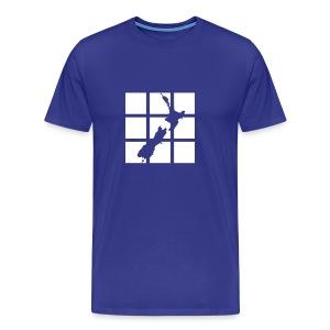 NZ Outline T-shirt - Men's Premium T-Shirt