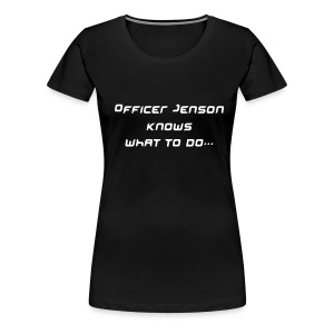Officer Jenson - Black - Women's Premium T-Shirt