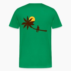 Grass green Palm boy - summer sun beach ocean T-Shirts