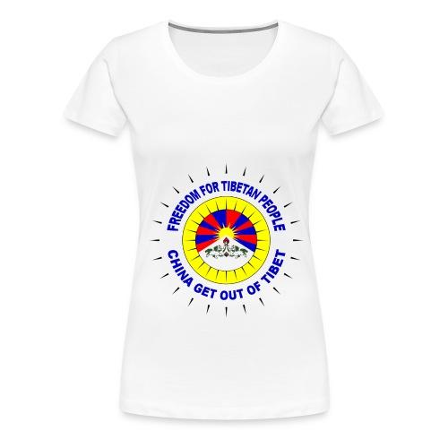 Continental Classic (Free Tibet 1) - Women's Premium T-Shirt