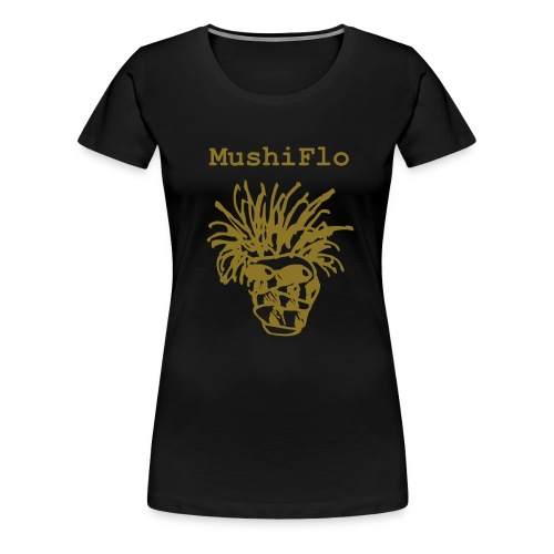 MushiFlo Girlie Shirt - Gold auf Schwarz - Frauen Premium T-Shirt