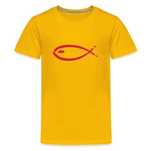 FISH-yellow|red (Kids) - Teenager Premium T-Shirt