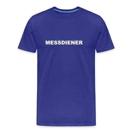 MESSDIENER - blue white (Boys) - Männer Premium T-Shirt