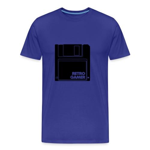 Retro gamer t-shirt blå - Premium T-skjorte for menn