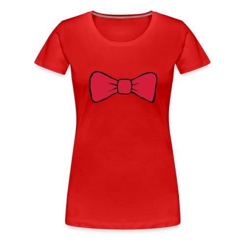 Bow Tie Continental Classic Women's (Red)  - Women's Premium T-Shirt