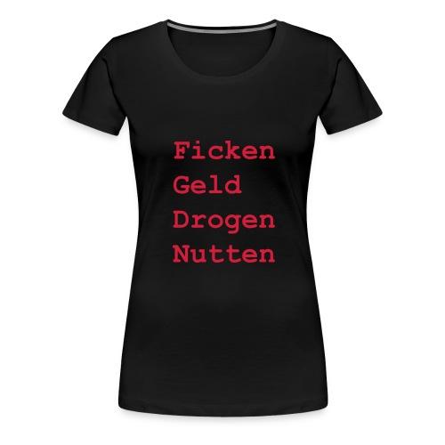 FGDN Girlie Shirt - Rot auf Schwarz - Frauen Premium T-Shirt