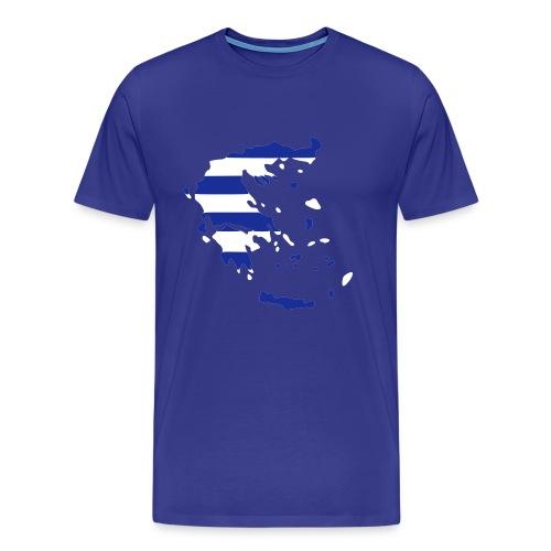 Griechenlandkarte - Männer Premium T-Shirt