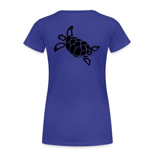 Turtle Shirt Karibik Blau  - Frauen Premium T-Shirt