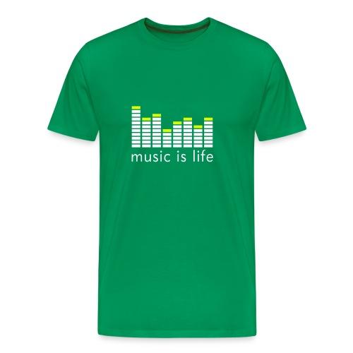 Music is life t-shirt - Premium-T-shirt herr