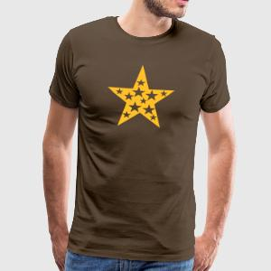 Bruin Star with Stars Heren t-shirts - Mannen Premium T-shirt