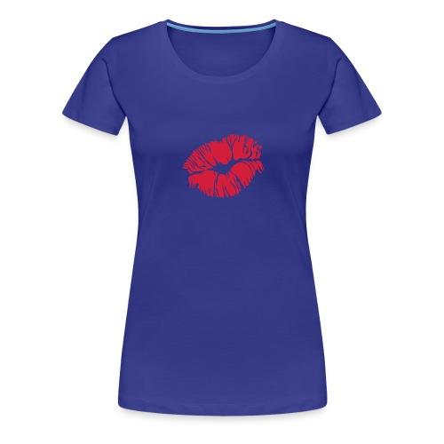 T-shirt met kus - Vrouwen Premium T-shirt