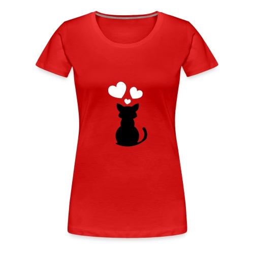 chat love - T-shirt Premium Femme