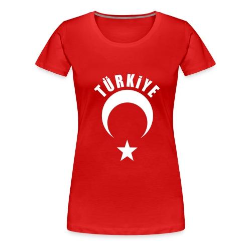 Türkiye Shirt Bayan Kırmızı - Frauen Premium T-Shirt