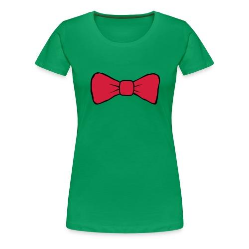 Bow Tie Continental Classic Women's (Green)  - Women's Premium T-Shirt