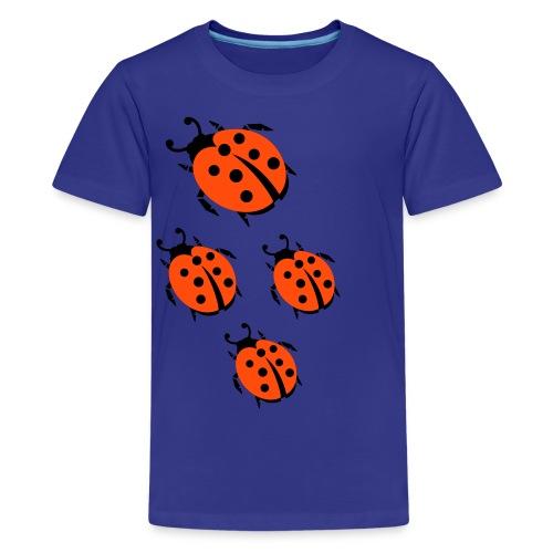 blue ladybugs - Teenage Premium T-Shirt