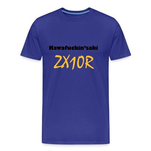 Kawa ZX10R Blue - Männer Premium T-Shirt