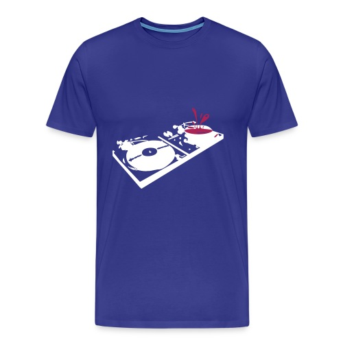 turntable blue - Men's Premium T-Shirt
