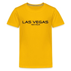 Kinder-T-Shirt LAS VEGAS, NEVADA gelb - Teenager Premium T-Shirt