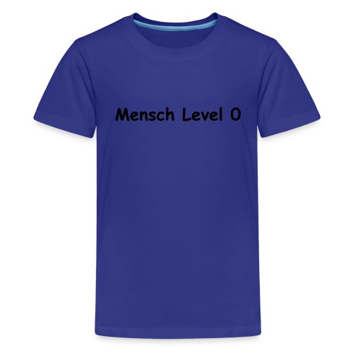 KlingenCon - Mensch Level 0 - Teenager Premium T-Shirt