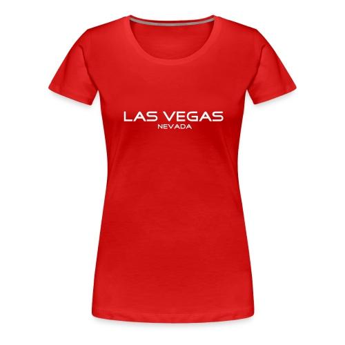 Girlie-Shirt LAS VEGAS, NEVADA rot - Frauen Premium T-Shirt