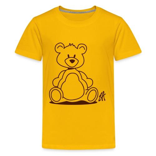 Bear yellow 6-14 year - Premium-T-shirt tonåring