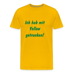 Fan-Shirt Yellow - Männer Premium T-Shirt