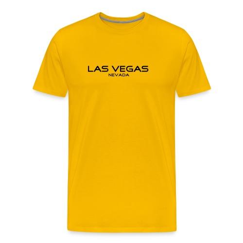 T-Shirt LAS VEGAS, NEVADA gelb - Männer Premium T-Shirt