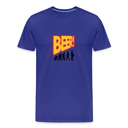 Bier Evolution - Männer Premium T-Shirt