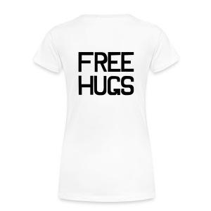 FREE HUGS Wit | Voor & Achterkant - Vrouwen Premium T-shirt