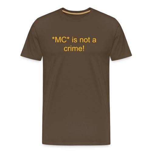 Not a Crime - Männer Premium T-Shirt