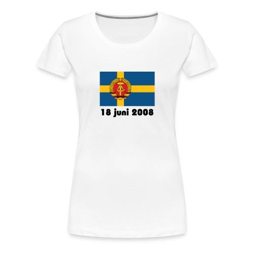 Sverige och FRA - Premium-T-shirt dam