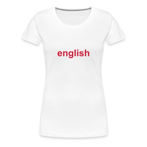 english white rose - Women's Premium T-Shirt