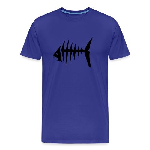 Fishbone blue - Premium-T-shirt herr