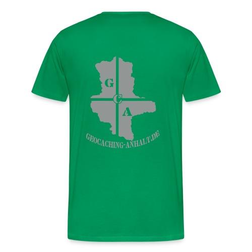 Grau auf grün Shirt - Männer Premium T-Shirt