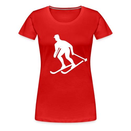 SkiSign - Röd - Premium-T-shirt dam