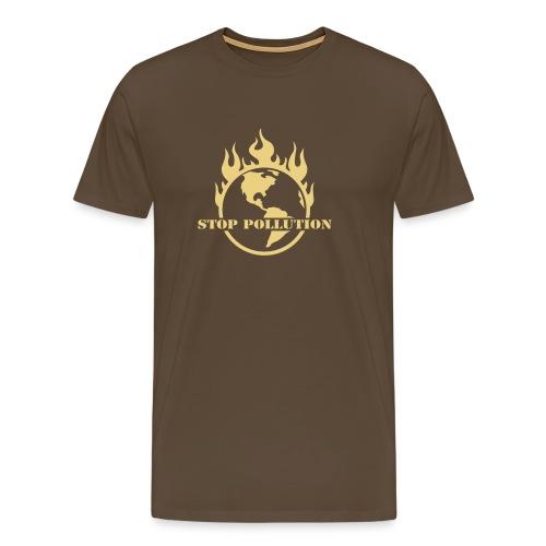 STOP POLLUTION - Premium-T-shirt herr
