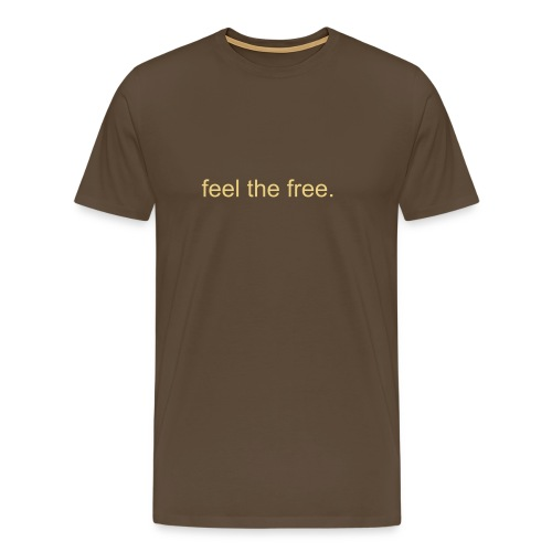 Standart Tee with Feel The Free - Men's Premium T-Shirt