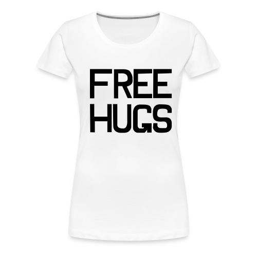 FREE HUGS Wit - Vrouwen Premium T-shirt